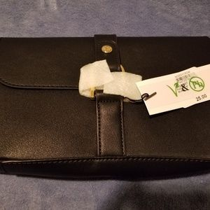 Simple Black Leather-style Clutch